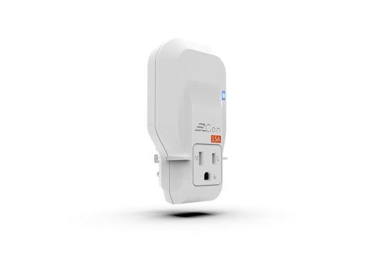 [EzCon] 精密電流過載保護15A轉接插座-插座、開關