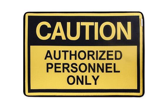 慎康企業-Authorized Personnel 趣味記憶綿浴墊 - 閒人勿擾-Authorized Personnel 趣味記憶綿浴墊 - 閒人勿擾,慎康企業,地墊