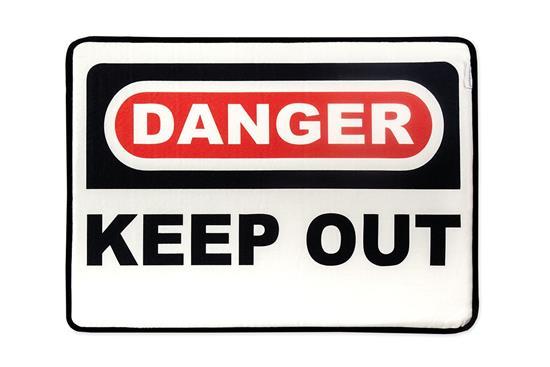 慎康企業-Danger 趣味記憶綿浴墊-危險禁入-Danger 趣味記憶綿浴墊-危險禁入,,地墊