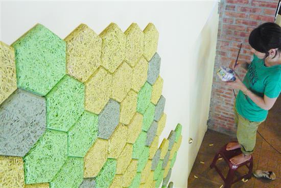 MEXIN美絲 空間聲學產品-美絲手作風六角吸音磚-美絲手作風六角吸音磚,華奕國際實業有限公司,壁貼