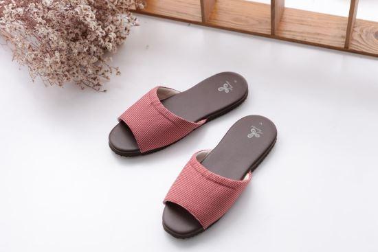 Vero & Nique   維諾妮卡-76011簡約格紋室內皮拖鞋-76011簡約格紋室內皮拖鞋,Vero & Nique   維諾妮卡,居家用品