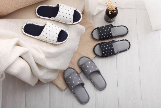 76052北歐風簡約室內布拖鞋-居家用品