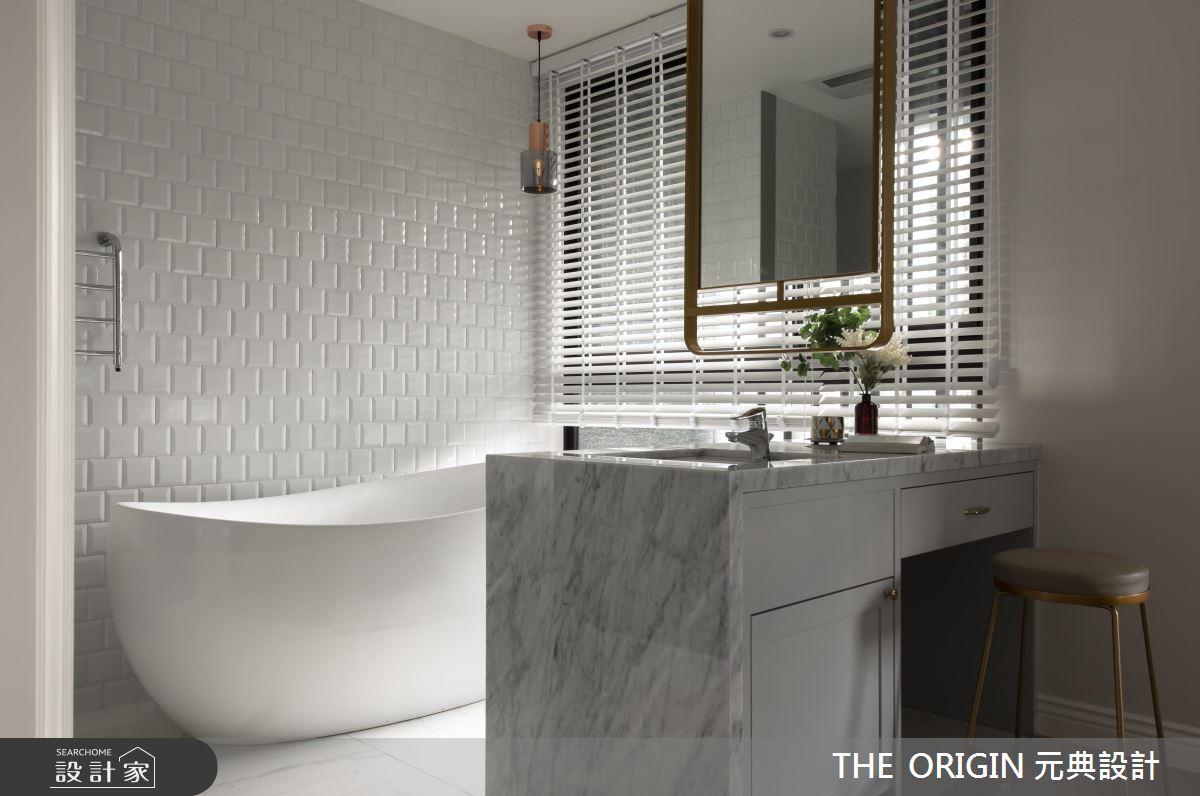 16 坪的悠遊藍調宅,在臥房內打造夢幻獨立浴缸!