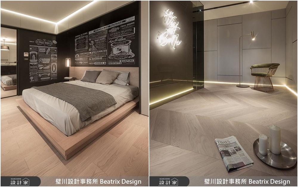 臥室:連床頭塗鴉牆都充滿法國味!藝術大宅完整呈現法式優雅生活